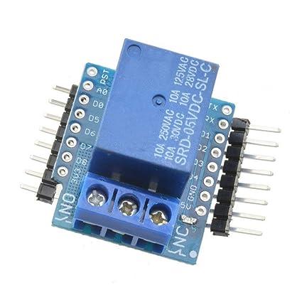 Relay Shield for WeMos D1 Mini ESP8266 Development Board by Envistia Mall