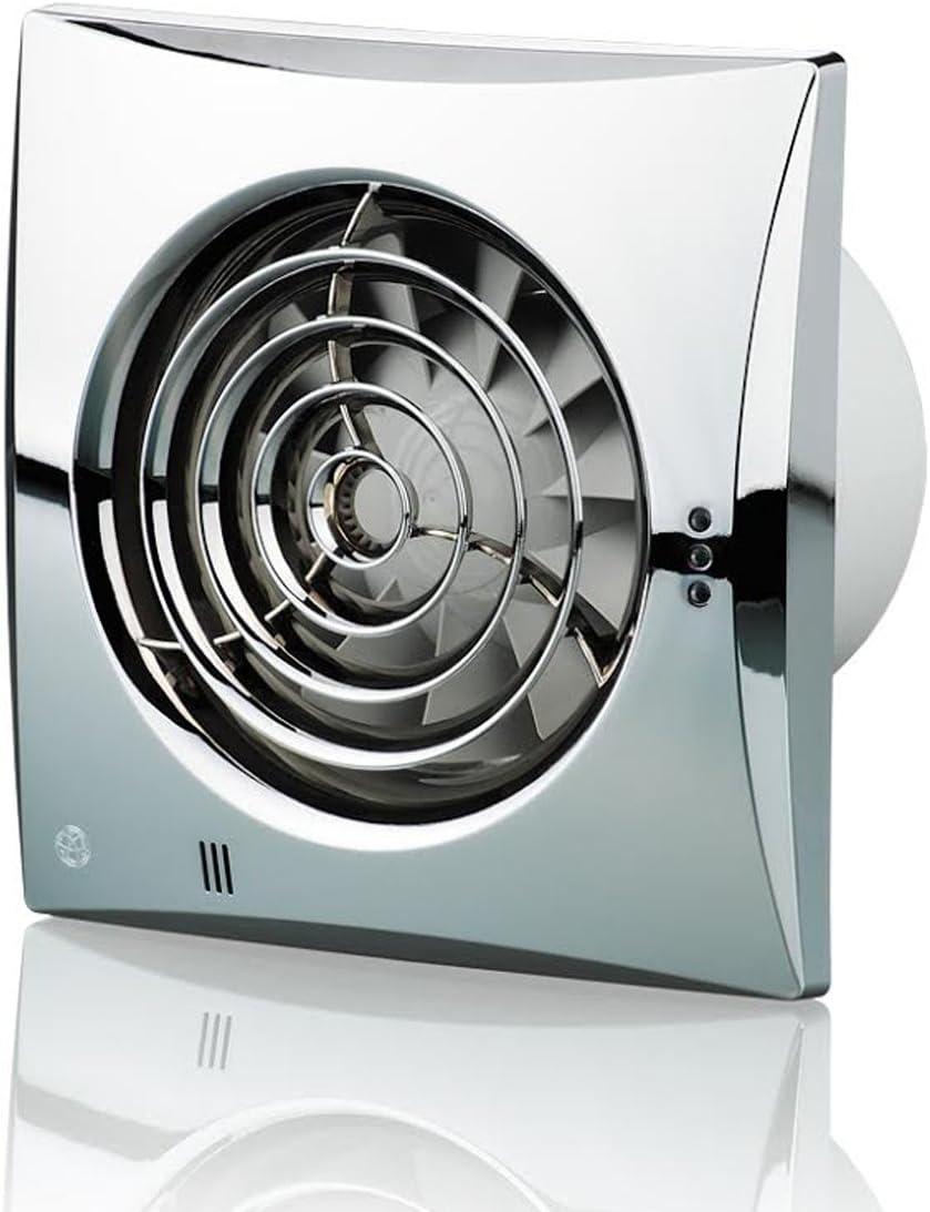Blauberg UK 100Silencioso cromado extractor de 100mm estándar ventilador–cromo