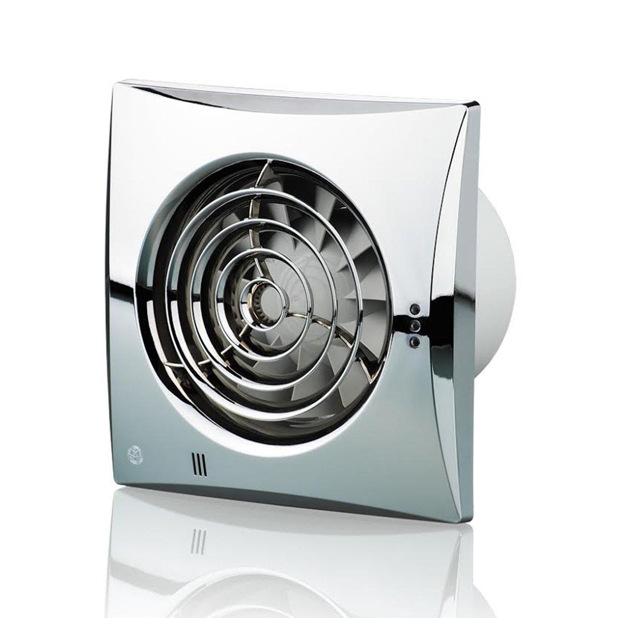color blanco brillante Blauberg UK 100/Silencioso T 100/mm ventilador Extractor con temporizador