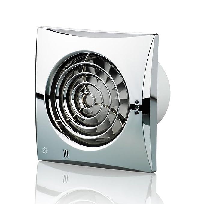 Blauberg UK 100/leise TH 100/mm Abluftventilator Luftfeuchtigkeit/ /Brilliant Wei/ß