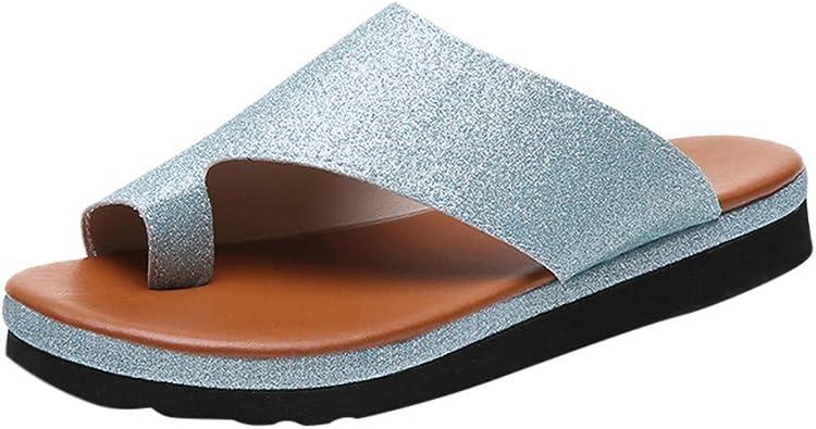 DOLDOA Chaussures Homme ete Sandales Plates Homme de Bout