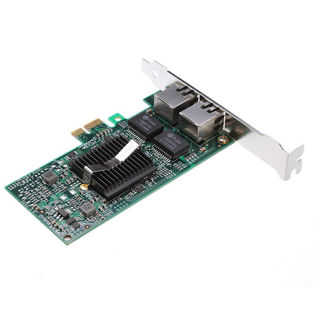 Shuangyu Intel 82575 Chip Dual 2 RJ45 Anschl/üssen 1 Gbits PCI-E X1 LAN Gigabit Ethernet Netzwerk Karte Serveradapter