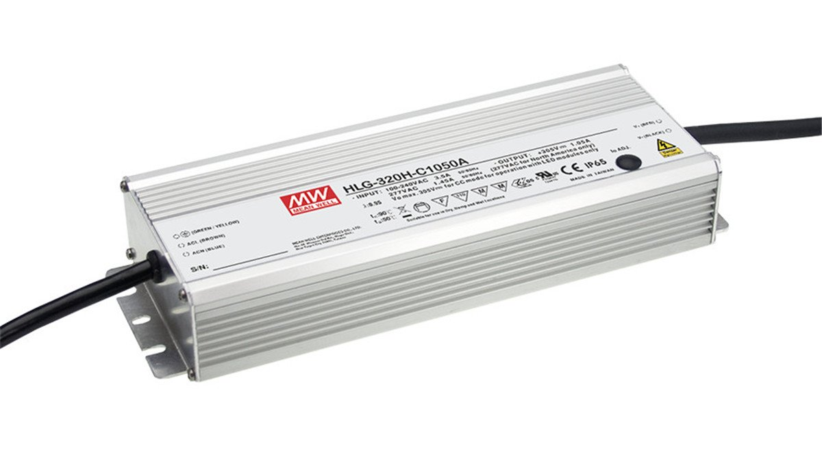 [PowerNex] Mean Well HLG-320H-C2100A 152V 2100mA 319.2W Single Output Switching LED Power Supply with PFC by MEAN WELL (Image #1)