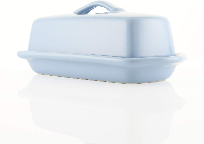 8.5 inch Chantal Butter Dish Aqua