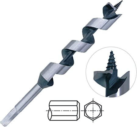 Irwin Auger Drill Bit 1 1//8 Dia Electricians Wood Bit 17 Long