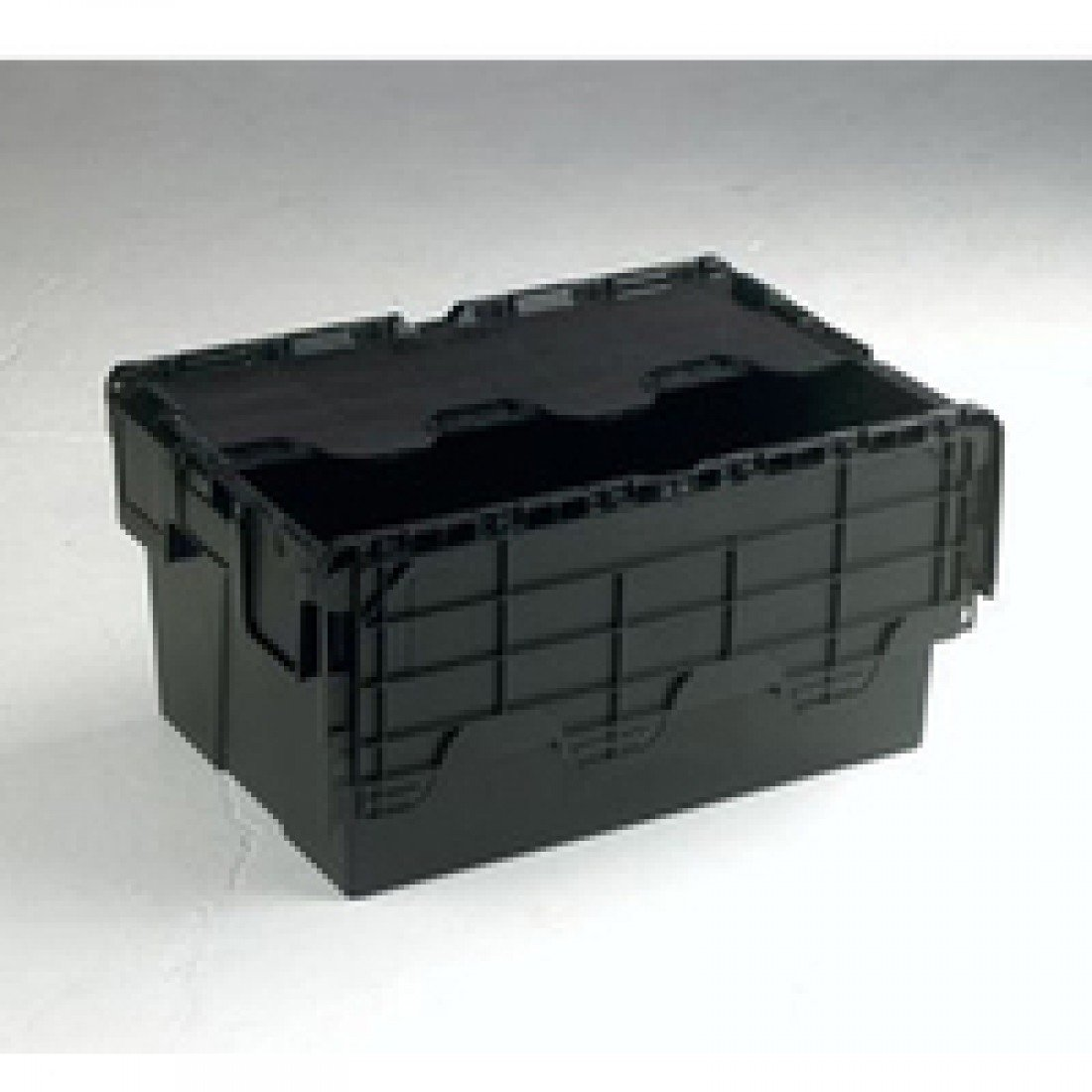 VFM 375814 Attached Lid Container, 54 L, Black SBY21375