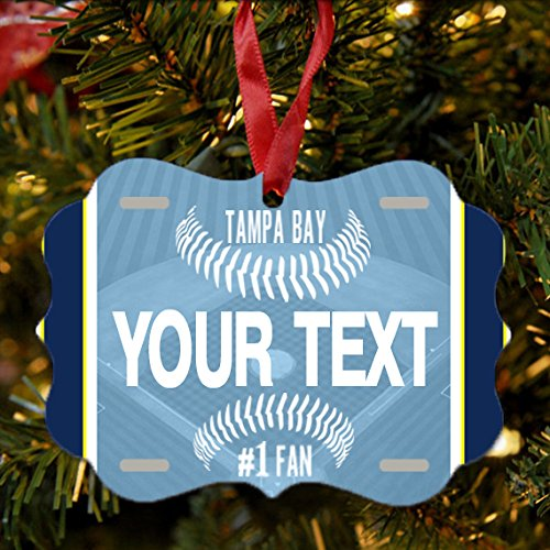- BRGiftShop Personalize Your Own Baseball Team Tampa Bay Christmas Tree Ornament