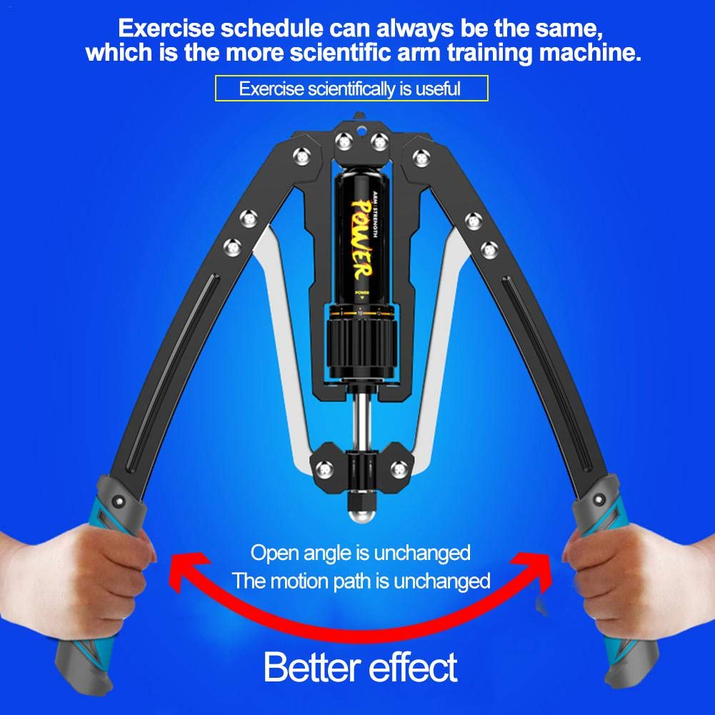 didatecar Adjustable Power Twister Bar Pressure Chest And Arm Builder Pull Exerciser Fitness Exercise Machine Gym Equipment 10-200kg Micro Rebound