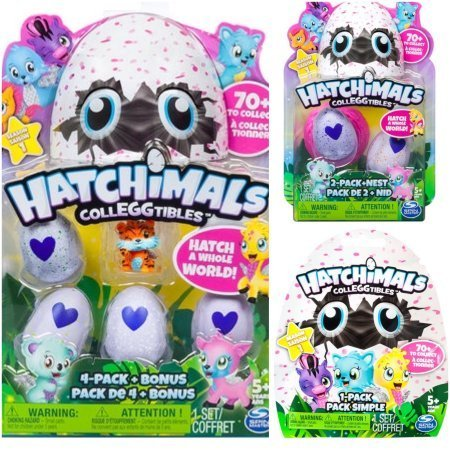 Hatchimals Colleggtibles Season 1 4-pack + bonus, 2-pack + nest, 1 blind SET (random assortment) Collectibles ()