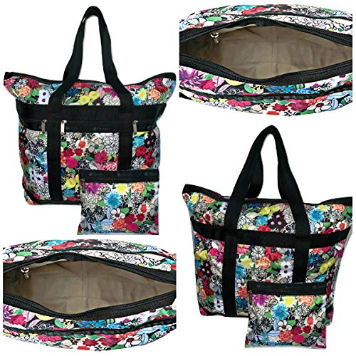 LeSportsac Sunlight Floral Travel Tote + Matching Cosmetic Bag, Style 7008/Color E141 ()