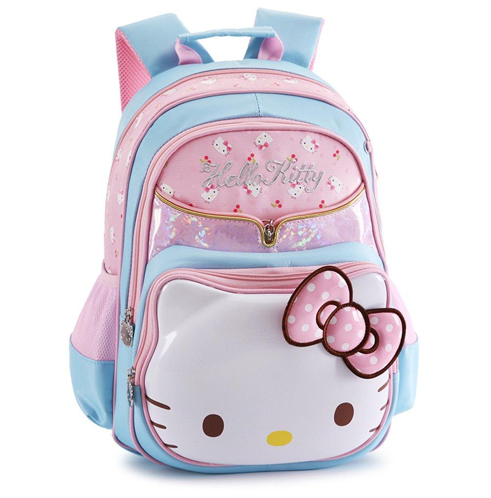 One/_Size, A Rose YOURNELO Girls Cartoon Lovely Hello Kitty Rucksack School Backpack Bookbag