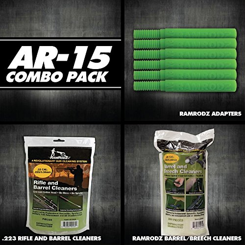 RamRodz AR-15 Value Pack .223 / 5.56 (1100 Cleaning Swabs & 6 Adapters)