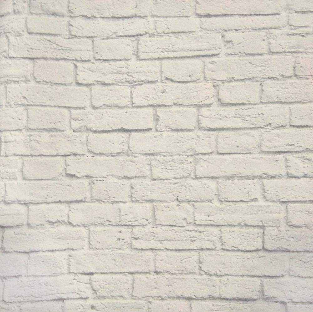 Glowvia Small White Brick Design Wallpaper For Home Office Hotel Cafe Size 57 Sqft Amazon In Home Kitchen