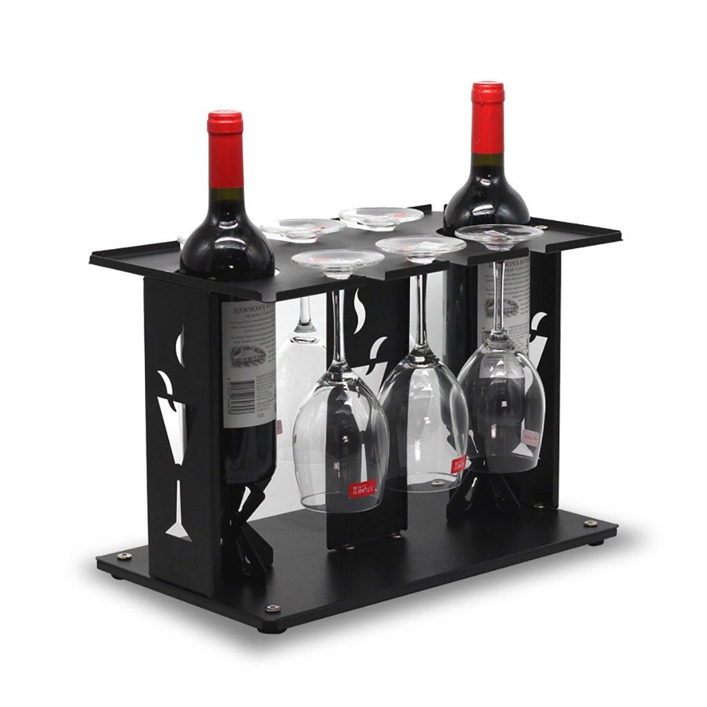 TH casier à vin Porte-gobelet minimaliste moderne de porte-gobelet de vin à la maison vers le bas des présentoirs