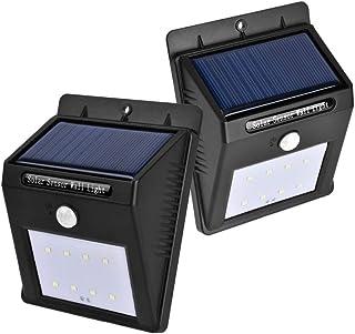WSJ Luce Del Sensore Di Movimento Solare A 8 LED, Funzione Sensore Di Movimento PIR Umano, Lampada Da Parete A Luce Di Sicurezza Luce Notturna Di Sicurezza Impermeabile Per Cortile Giardino