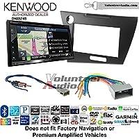 Volunteer Audio Kenwood DNX574S Double Din Radio Install Kit with GPS Navigation Apple CarPlay Android Auto Fits 2012 Honda Civic (Dark Grey Satin)