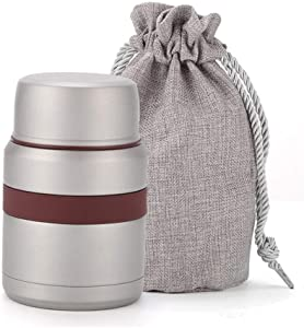 350ML Thermo Mug Vacuum Flasks Stainless Steel Mini Lunch Box Thermoses With Containers For Hot Food Unisex (Color : Light Grey)