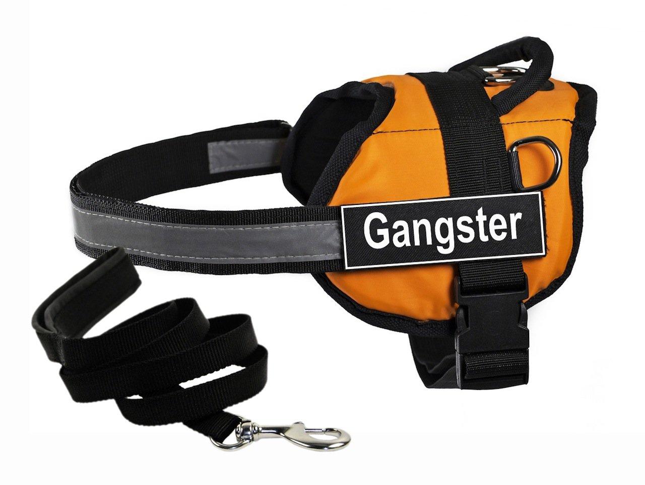 prezzo all'ingrosso e qualità affidabile Dean & Tyler DT Works Arancione Imbracatura con Gangster, Gangster, Gangster, Media, e Nero 1,8 m Padded Puppy guinzaglio.  rivenditori online