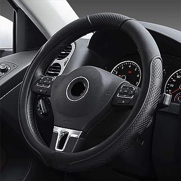 Universal Auto Lenkradhülle Aus Mikrofaser Leder Universal Passend 37 39cm 15 Atmungsaktiv Anti Rutsch Lenkradschutz Für Auto Zubehör Schwarz Auto
