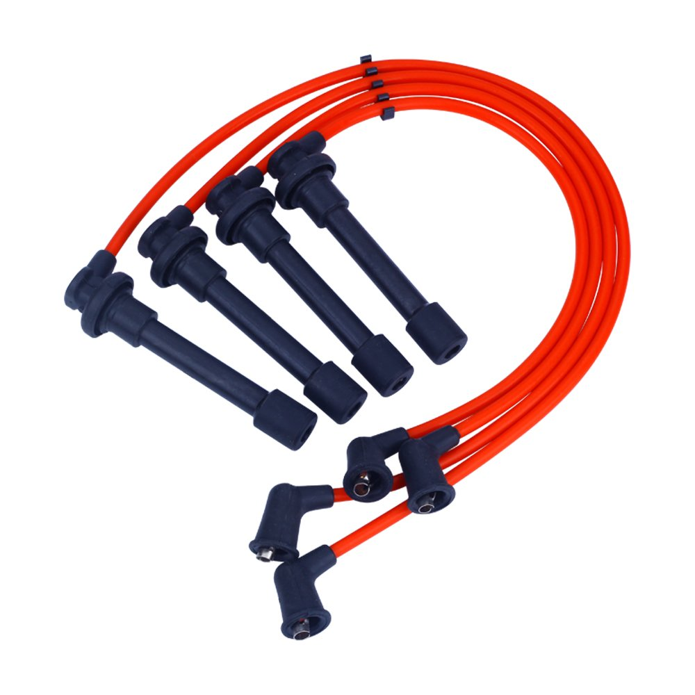 Spark Plug Wires Sets Igniton Silicone Performance Cable Leads for Honda Accord Civic Acura CL EL Isuzu Oasis 1994-2002 1.6L 2.2L 2.3L