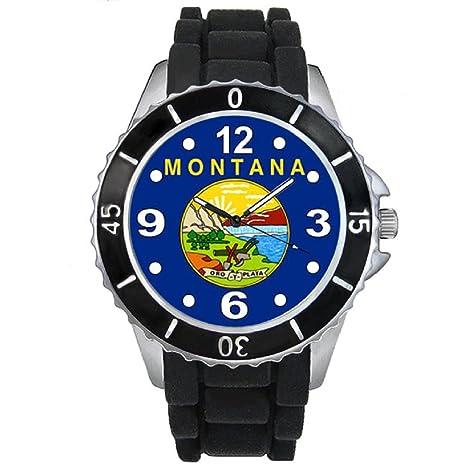 Montana Reloj unisex con correa de silicona negro: Timest: Amazon.es: Relojes