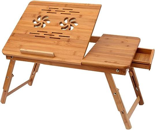Himimi Bambus Laptoptisch Notebooktisch Klappbarer Computer Zubehör