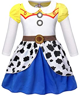 8af56dff3a7a4 AmzBarley Girls Toddler Jessie Costume Dress Jessie Dress up Halloween Costumes  Fancy Dress…