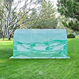 Z ZTDM 12′x7′x7' Greenhouse Kits Supplies, Protable Home Garden DIY Plants Shed, Outdoor Backyard Walk in Greenhouse Flower Protective Shelter for Window or Summer Grow Tents with Anti-UV Cover