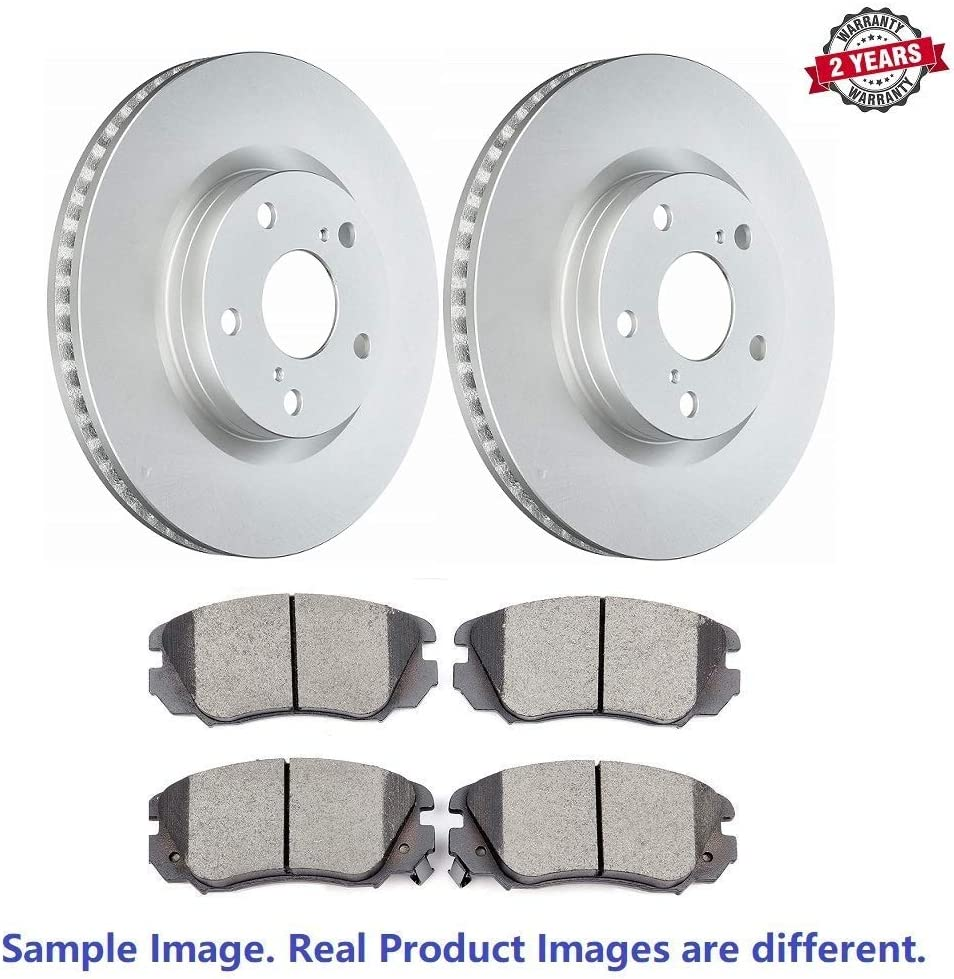 Inroble w//324 mm Dia Rotor - Two Years Warranty Premium Quality Front Anti Rust Coated Disc Brake Rotors and Ceramic Brake Pads For 2004 BMW 530i Base Pads with Hardware
