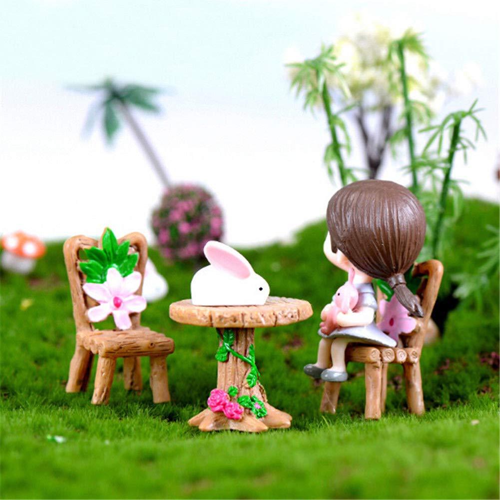 Paquete De 5 Jardín Hadas Miniatura herramientas de jardín casas de muñecas Adornos