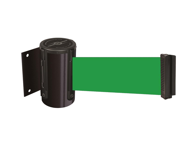 Black Standard 7.5/' Tensator Tensabarrier 896-STD-33-STD-NO-G6X-C Standard Wall Mount No Custom Green Webbing Standard Belt End Standard 7.5