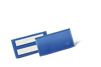 kurze Seite 100 DURABLE Visitenkartentasche selbstklebend transparent,Öffnung