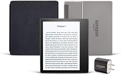 Fabric Cover Graphite All-new Kindle Oasis Essentials Bundle including Kindle Oasis and Power Adapter