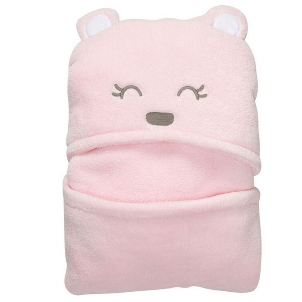 KINDOYO Kids Baby Bathrobe Cute Bear Hooded Ultra-soft Coral Velvet Blankets, Sleeping Bags, Bath Towels With Cartoon Pattern For Boys and Girls