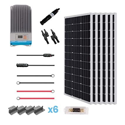 amazon com : renogy 600 watt 12 volt solar premium kit, 600w-60a : garden &  outdoor