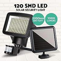120LED Solar Sensor Light Security Motion Garden Lights Torch Lamp Solar Power System Waterproof Wireless Outdoor Yard Diveway Lighting Wall Deck Fence Street