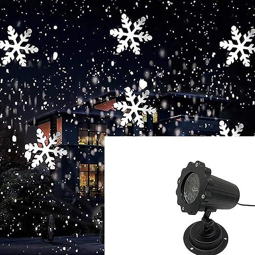 Luces De Proyector De Copo De Nieve Navideñas, Lámpara De ...