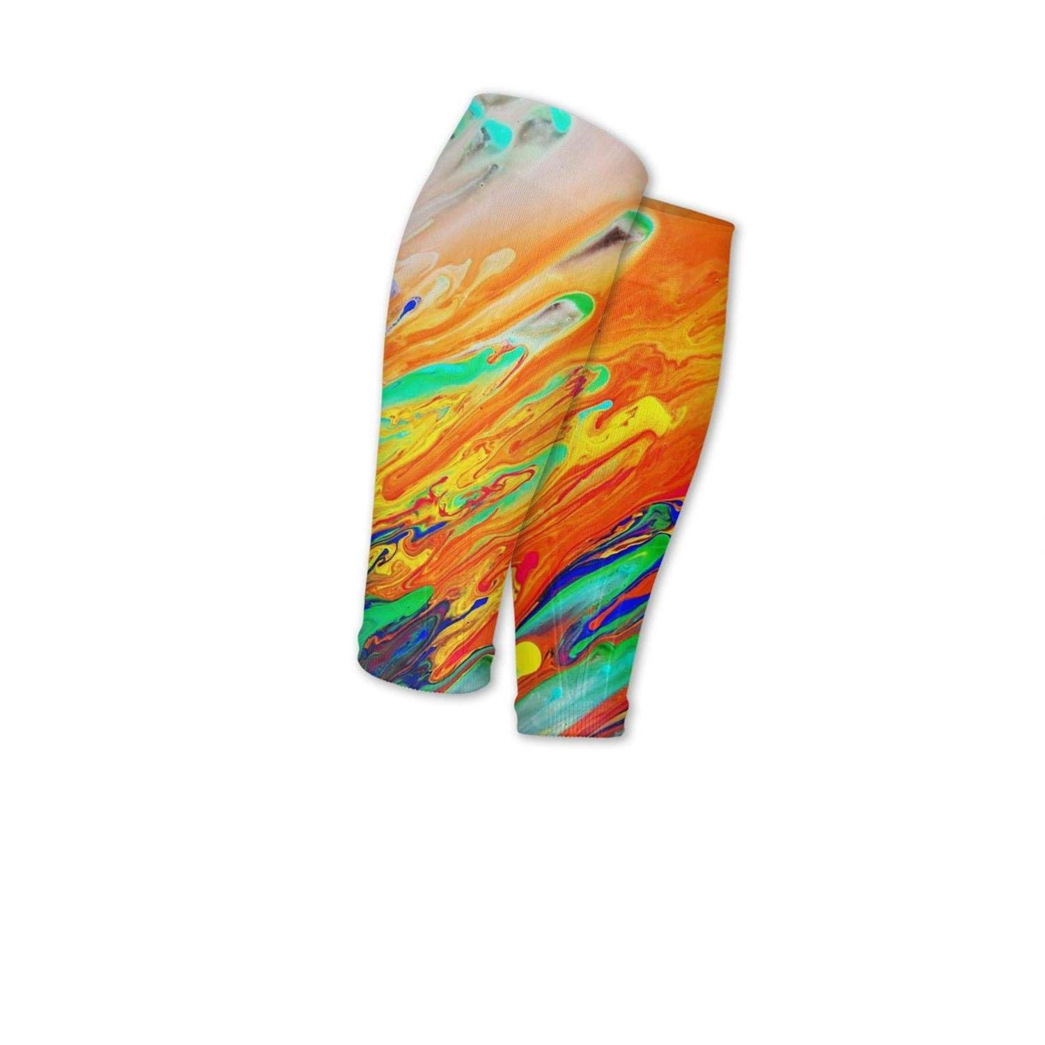 Smilelolly Tie Dye Calf Compression Sleeves Helps Pain Relief Leg Sleeves for Men Women