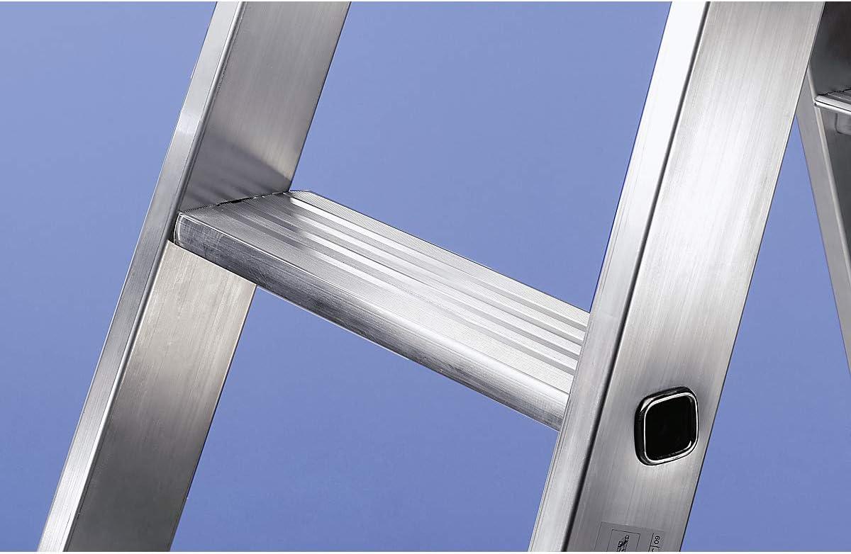 beidseitig G/ünzburger Steigtechnik Stufen-Stehleiter Alu-Leiter Alu-Leitern Alu-Stufenstehleiter Alu-Stufenstehleitern Bockleiter Bockleitern Stehleiter Stehleitern Stufenleiter Stufenleitern 2 x 3 Stufen Ausf/ührung gepolstert