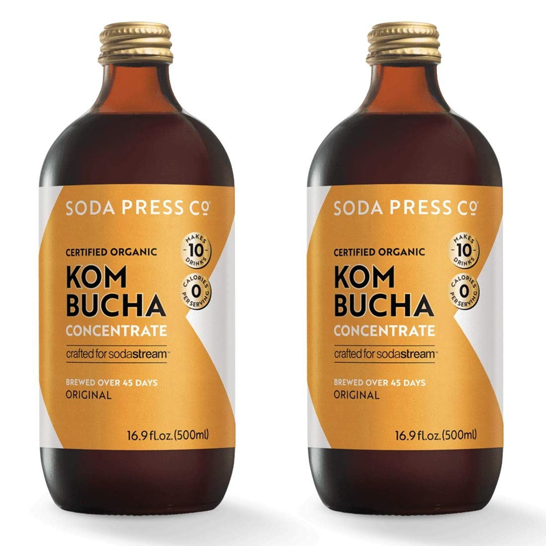 Soda Press Organic Kombucha Flavor Mix for SodaStream, 16.9 Fl Oz, 2 Pk