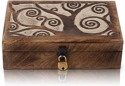 Gran regalo de cumpleaños hecho a mano, caja decorativa de madera ...