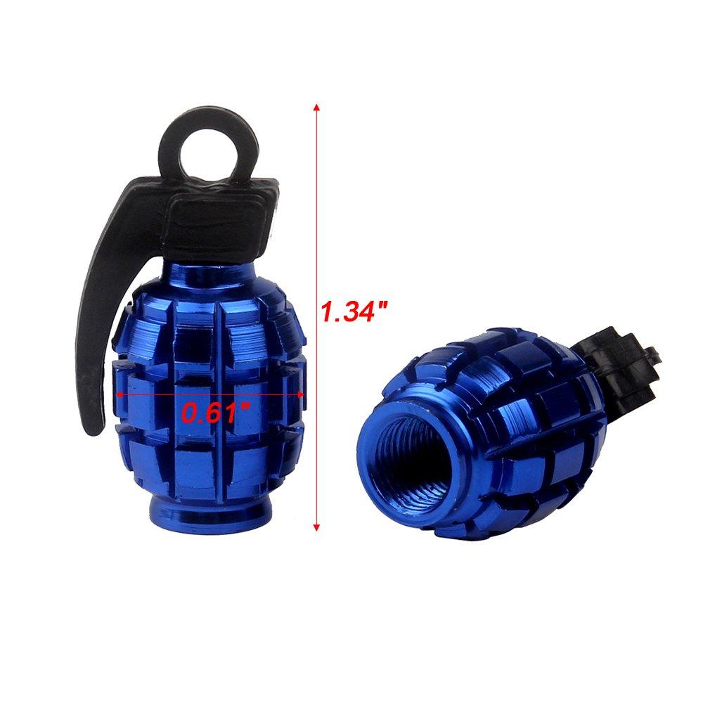 SENZEAL Grenade Bomb Aluminum Alloy Valve Caps