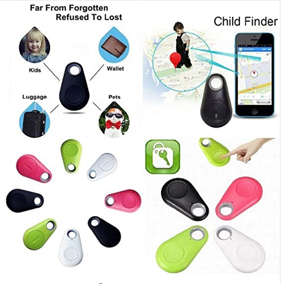 Luggage Child Elderly Vehicle Mini GPS Tracker Round Hidden Small Portable Tracking Device Bluetooth Intelligent Anti-Lost Device for Key Pet Dog Bluetooth Alarm for Mobile Phone