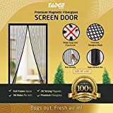 Magnetic Mesh Bug Screen Door - Strong Magnets, Fiberglass Mesh - Full Frame Curtain Magnets with Self-Seal Easy Open and Close Design | Anti Bug & Insect | Pet Friendly