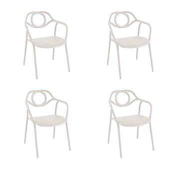 EMU Oferta 4 sillones Silla Zahir Blanco de Interior y ...