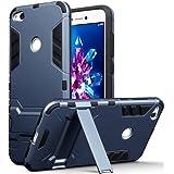Terrapin Silicone e Cover di Policarbonato Rigida con Funzione di Appoggio per Huawei P8 Lite 2017 Custodia, Colore: Buio Blu