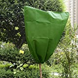 Iusun Warm Cover Plant Cover Frost Protection Blanket Tree Shrub Bag for Yard Garden Winter Outdoor Plants Seed Germination Season Extension (Green 1PCS)