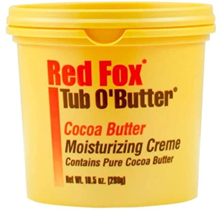 Red Fox Tub O Butter Cocoa, Moisturizing Creme 10.5 oz Pack of 7