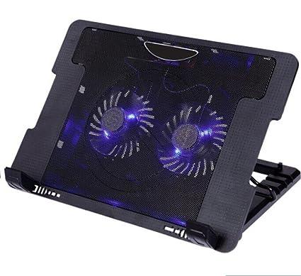 Aoligei ventilador del ordenador portátil soporte grande doble radiador 15,6 pulgadas base de enfriamiento
