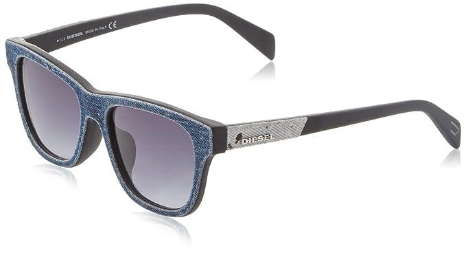 Diesel Damen Sonnenbrille Wayfarer Eye, Blau (Blu/Grigio), 54